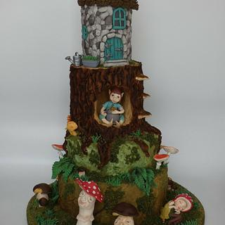 Fairy forest  - Cake by Olina Wolfs