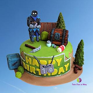 Fortnite Cake - Cake by Maty Sweet's Designs