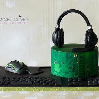 Cyber Cake - Cake by Sugar Street Studios by Zoe Burmester