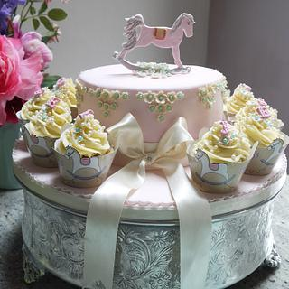 Rocking Horse First birthday Cake