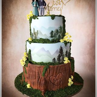 Darjeeling Woodland Wedding Cake