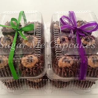 German Chocolate Cupcake gift boxes - Cake by Sugar Me Cupcakes