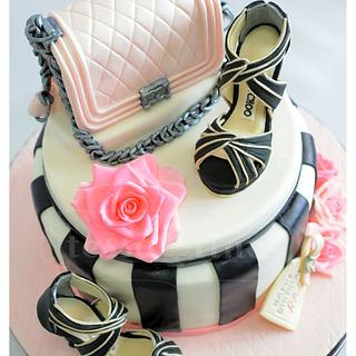 Bag and Shoes Cake