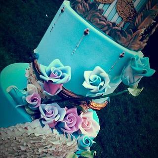 Blue Birdcage Cherub Couture Cakes
