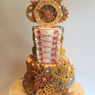 Steampunk cake  - Cake by vida cakes