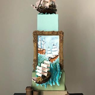 Pirate ship cake..