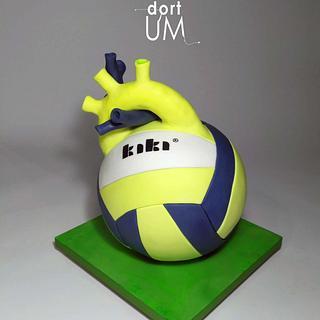 Volleyball heart