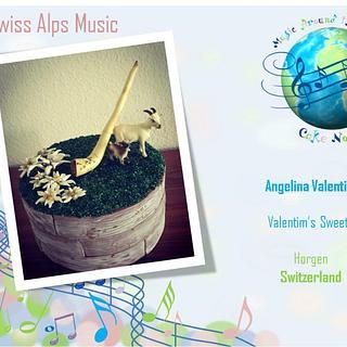 Swiss Alps Music Cake