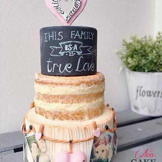 Chalkboard, Nude & Photos Cake