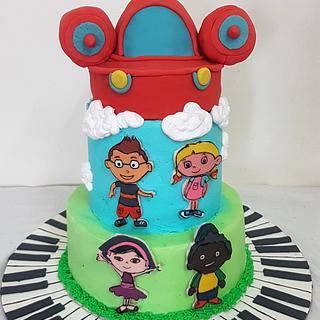Little Einstein theme cake