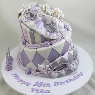 Masquerade theme birthday cake - Cake by Kake Krumbs