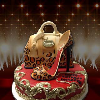 Coach Handbag & High Heel Cake