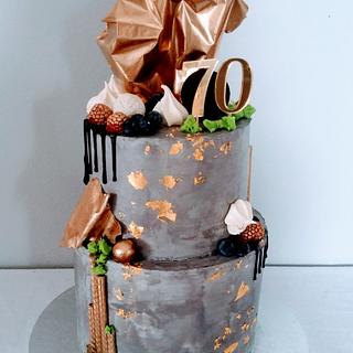 Cream cake for man