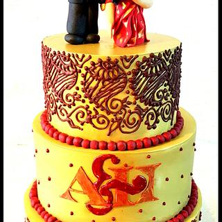 Mehendi cake! - Cake by Maaria