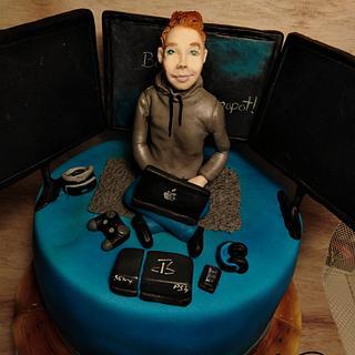 Computera boy who loves computer games - Cake by EmyCakeDesign
