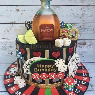 Casino themed 50th birthday cake