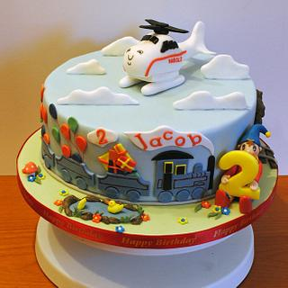 Harold The Helicopter - Cake by Sylvania Cakes - Exeter