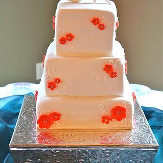 Coral Blossom Cake
