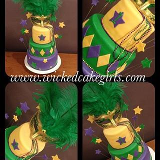 Mardi Gras cake  - Cake by Wicked Cake Girls