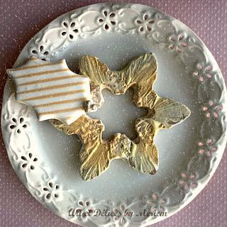 Snow flake wreath - Cake by artetdelicesbym