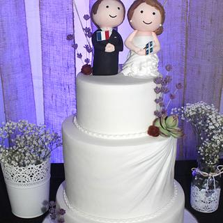 Rustic chic wedding cake - Cake by Mé Gâteaux