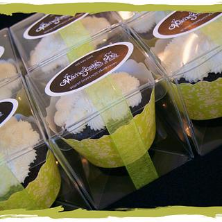Boxed cupcake favors
