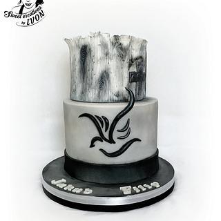 Silver&Black Confirmation cake