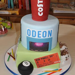 Costa Montage Birthday cake - Cake by Delights by Design