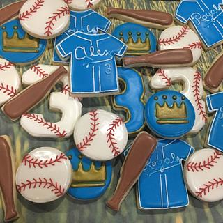 Royals baseball cookies