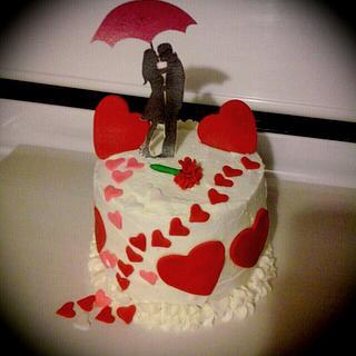 Valentines day - Cake by Jennifer