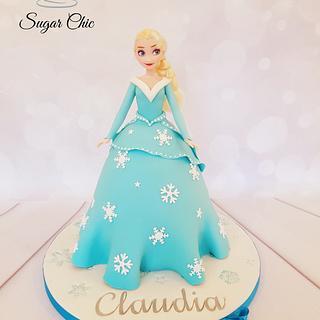 x Elsa Doll Cake x
