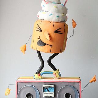 Dancin' Cuppie Cake