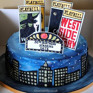 Broadway Musicals NY Cake