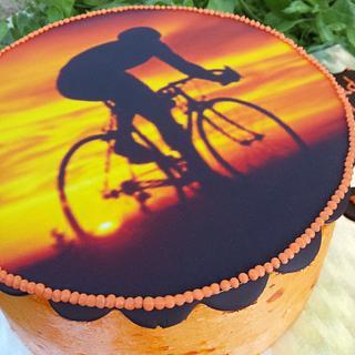 orange ciclyng cake