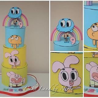 Gumball birthday cake
