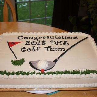 Douglas High School Golf Team Cake