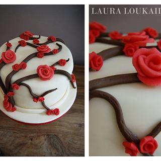 Rose Vine Cake - Cake by Laura Loukaides
