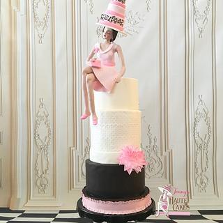 Royal Ascot Collaboration - My Cake Logo - Cake by Jenny Kennedy Jenny's Haute Cakes