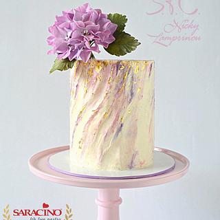 Inspired cream cake - Cake by Sugar  flowers Creations