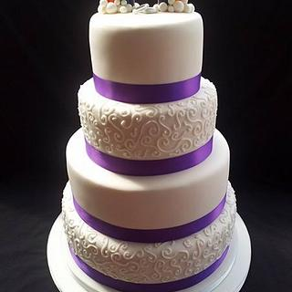 Rainbow wedding cake - Cake by Sweet Designs by Jo