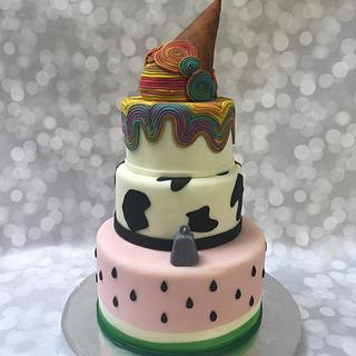 Farm Fresh Fun Fondant Cake - Cake by Joliez