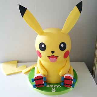3D Pokemon Pikachu cake
