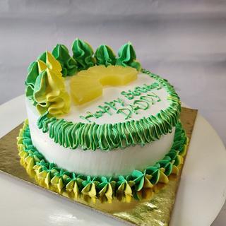 Pineapple whipped cream cake - Cake by Varsha Bhargava