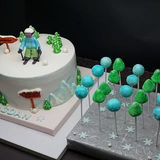 Winter Ski Cake - Cake by Dragana