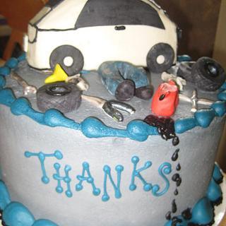 Mechanic's Thank you cake