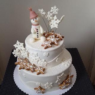 Winter snow - Cake by Dragana84