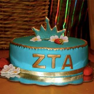 ZTA Sorority cake for special graduate