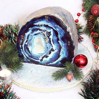 Geode clock - Cake by Anastasia Kaliazin