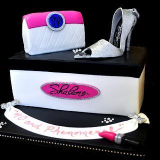 40 & Phenomenal Shoebox Cake - Cake by Karin Giamella