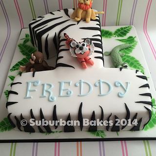 Number 1 zebra cake
